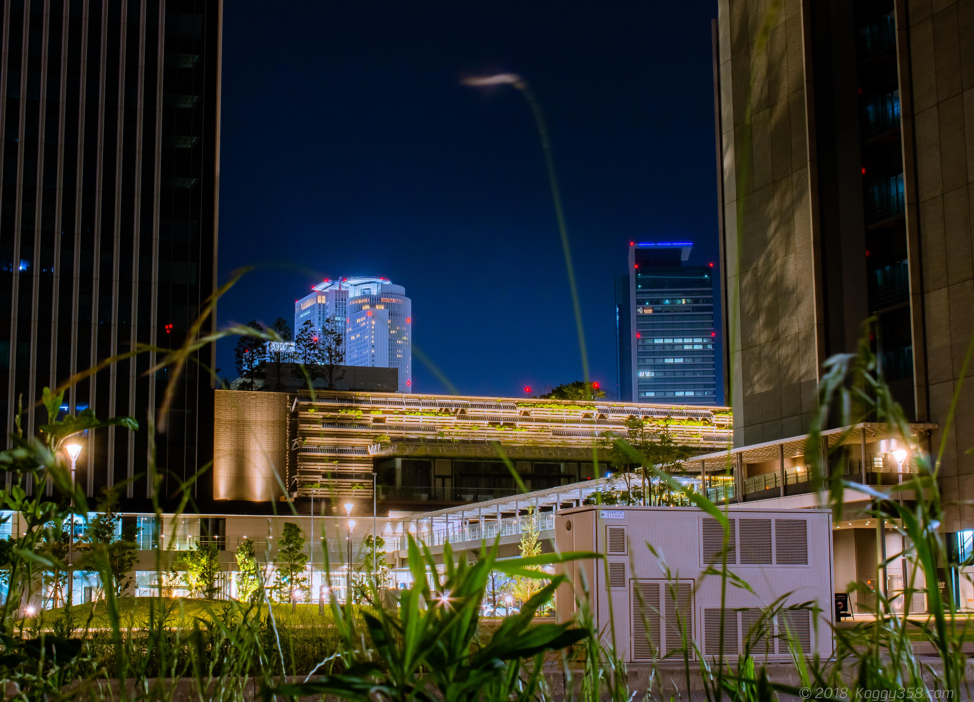 ささしまライブ駅周辺の夜景