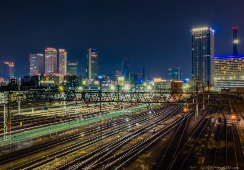 向野橋からみた名古屋の夜景