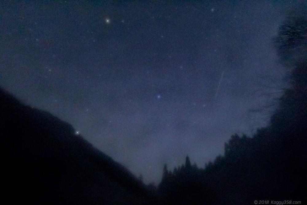 しぶんぎ座流星群を撮りにいってレンズ部が凍結して失敗した例