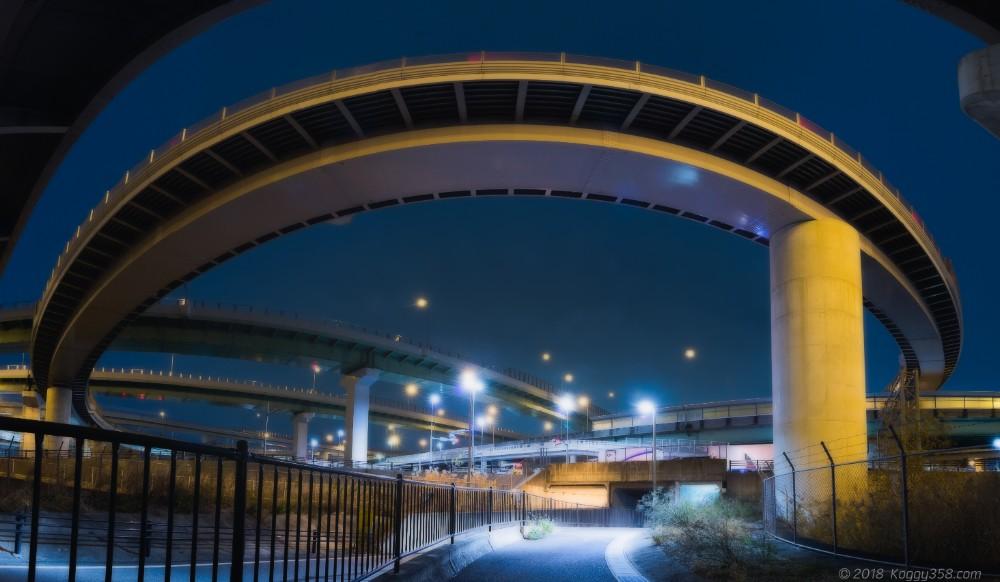 清洲ジャンクションの夜景写真を撮影して高速道路萌えをしてきたよ!