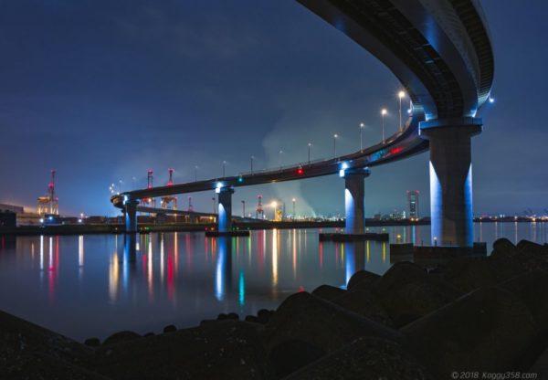 【構図の没個性の考察あり】四日市いなばポートラインの工場夜景【迫力あるS字撮影スポット】