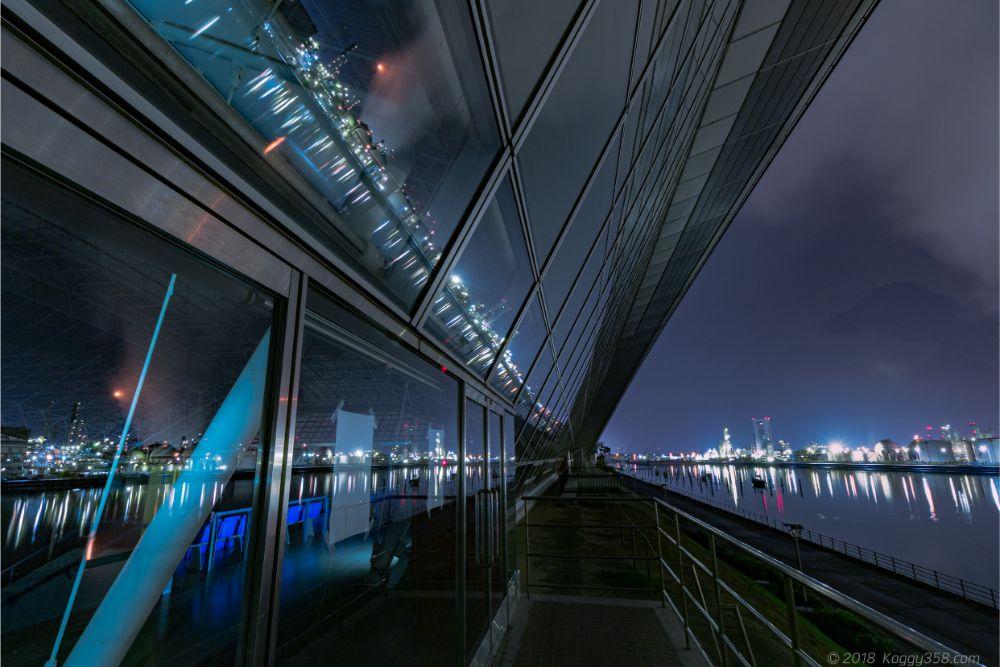 四日市ドーム・霞ヶ浦緑地エリアの撮影スポットと工場夜景を撮影