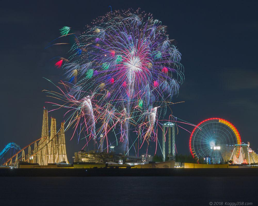 長島温泉花火大競演を撮影!スポットも開催日も多い撮りやすい花火!