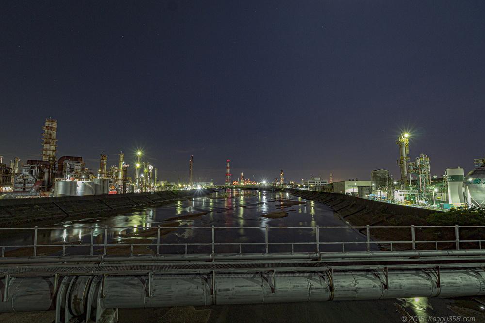 大正橋周辺の工場夜景を撮ってきた!【四日市の大人気撮影スポット】