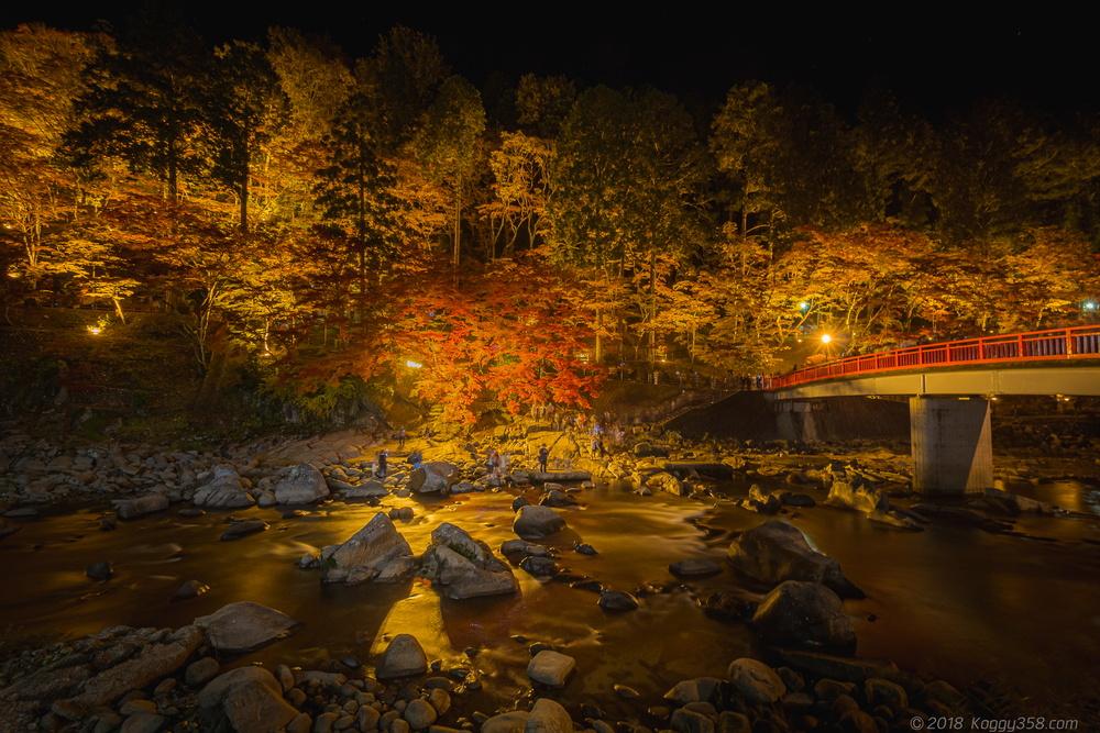 紅葉の名所、香嵐渓のライトアップを撮影!三脚使用の注意に渋滞回避のコツも紹介